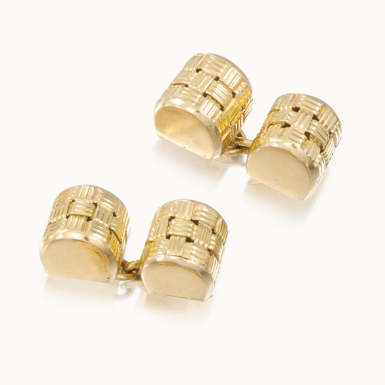 YELLOW GOLD LOAF CUFFLINKS
