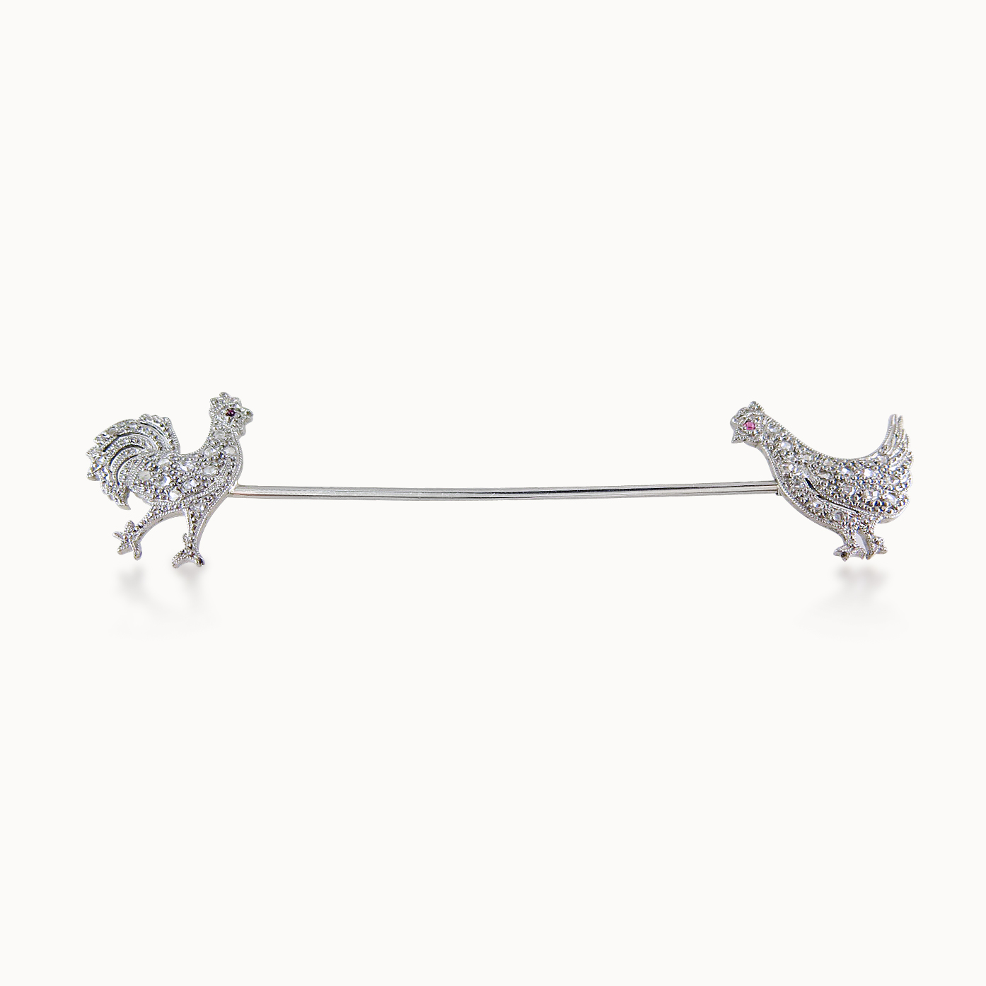 DIAMOND JABOT PIN