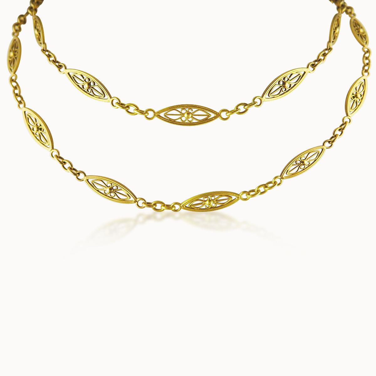 18CT YELLOW GOLD LONGCHAIN