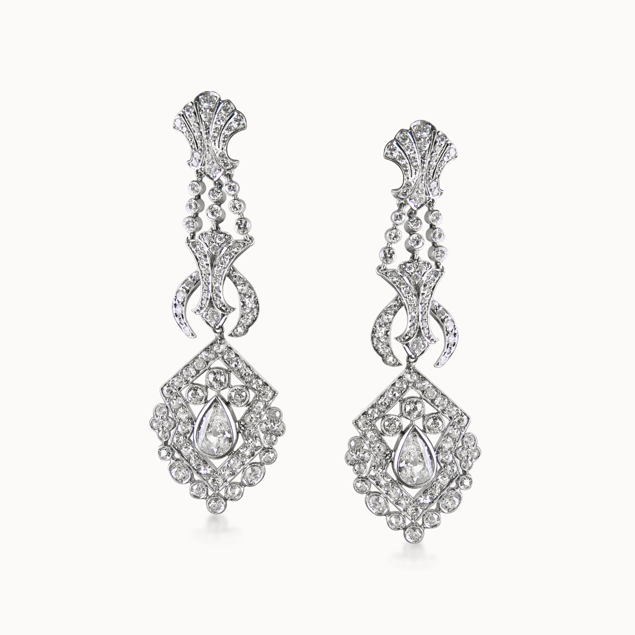 DIAMOND CHANDELIER EAR-PENDANTS