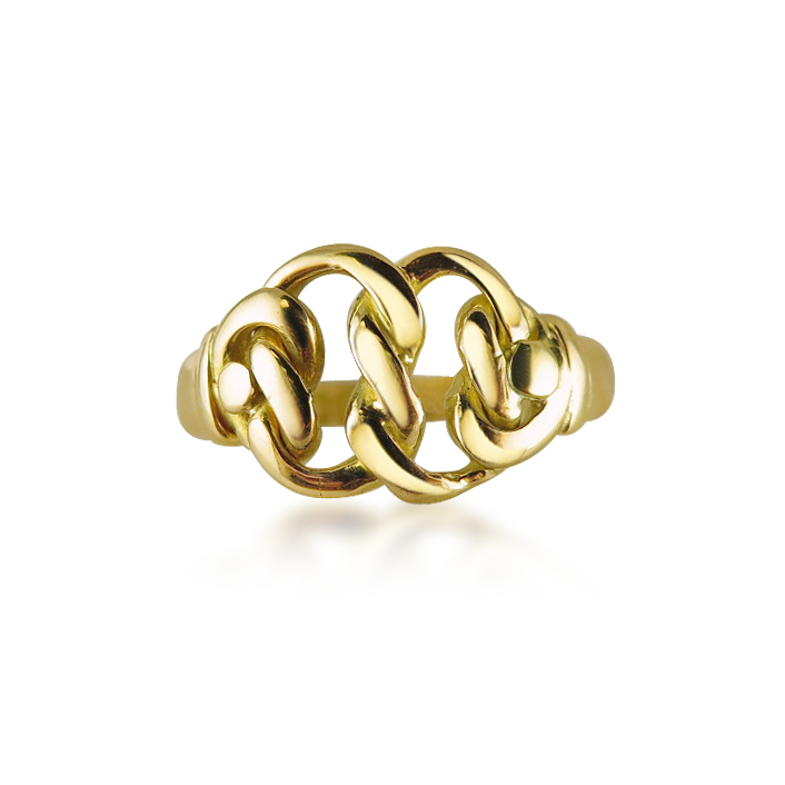 18CT GOLD DOUBLE REEF KNOT RING