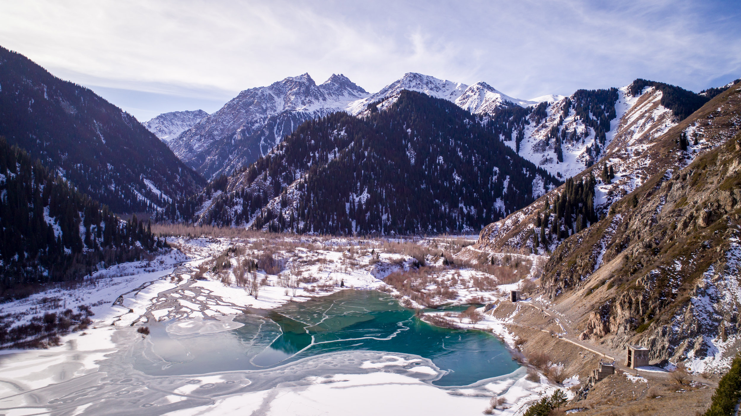 Lake Issyk, taken with Phantom 4 Pro