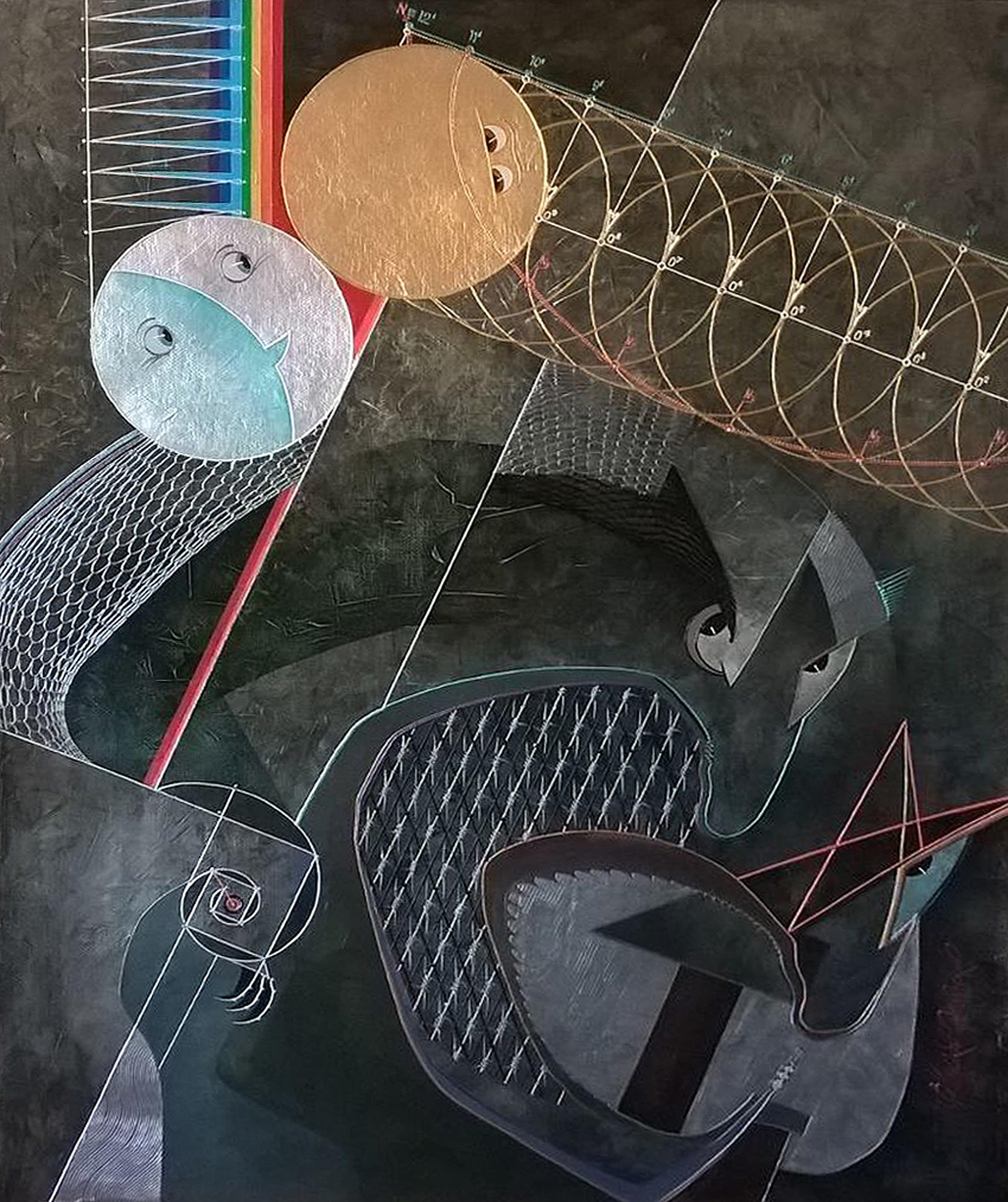 Vladimir Chumakov-Orleansky,  Dusk , 2017, Mischtechnik auf Leinwand, 90x70 cm