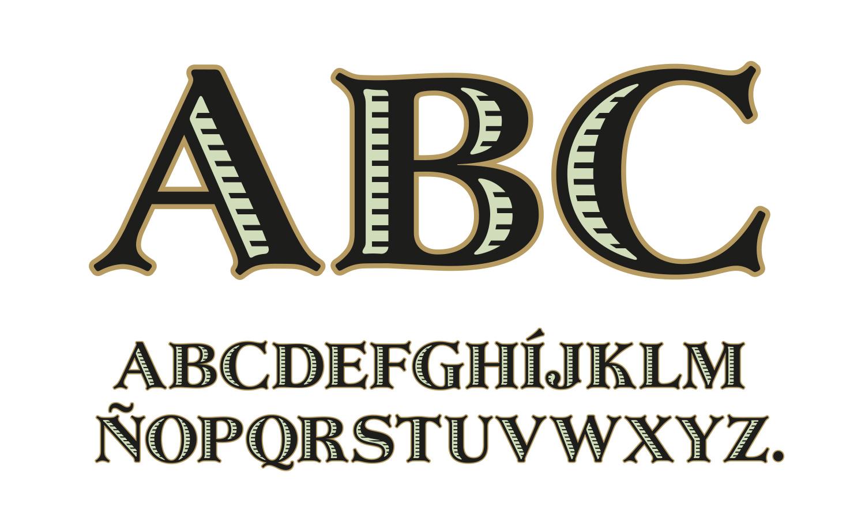 A vector alphabetfor manualsetting