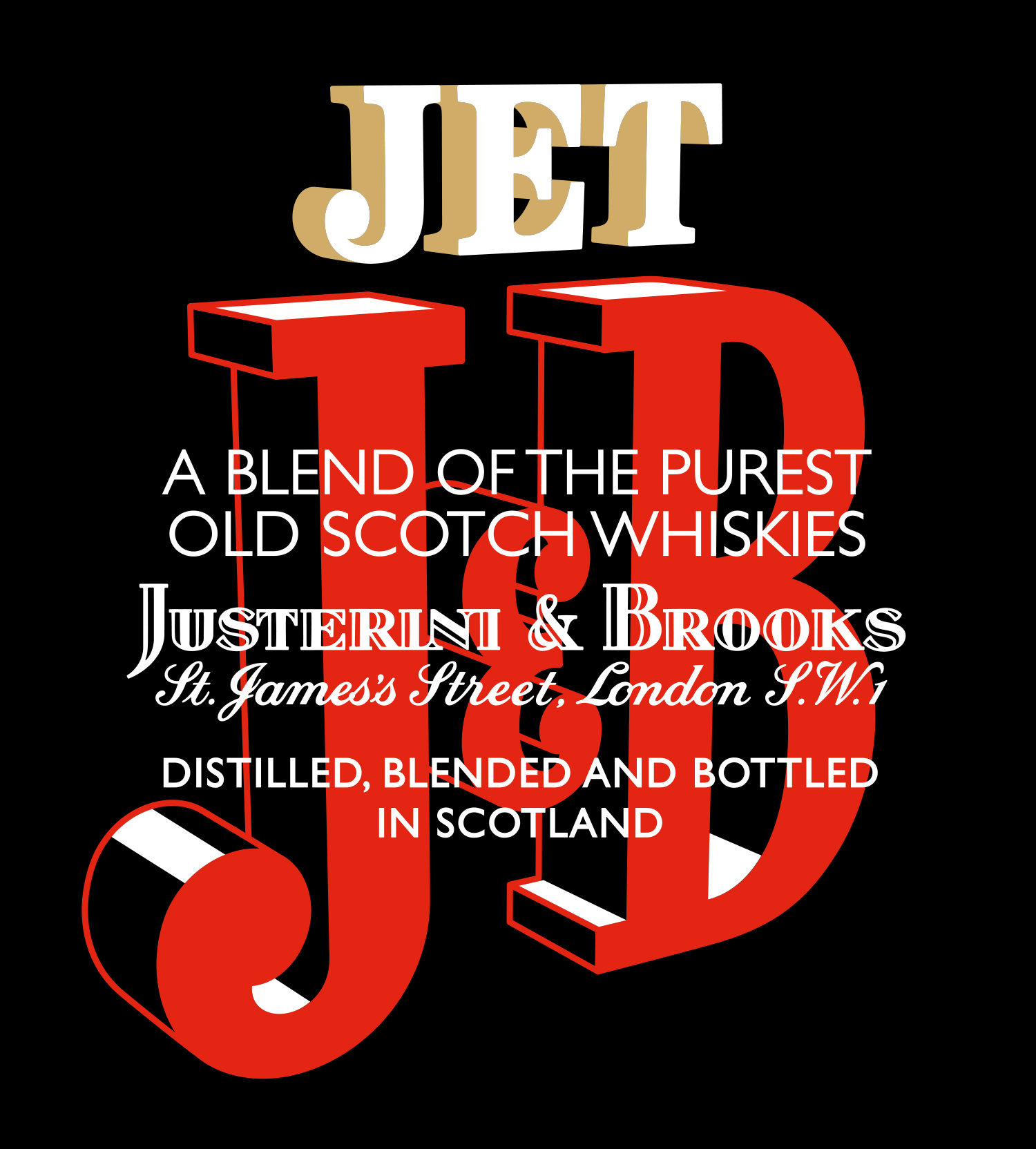 Jet JB lettering and typography