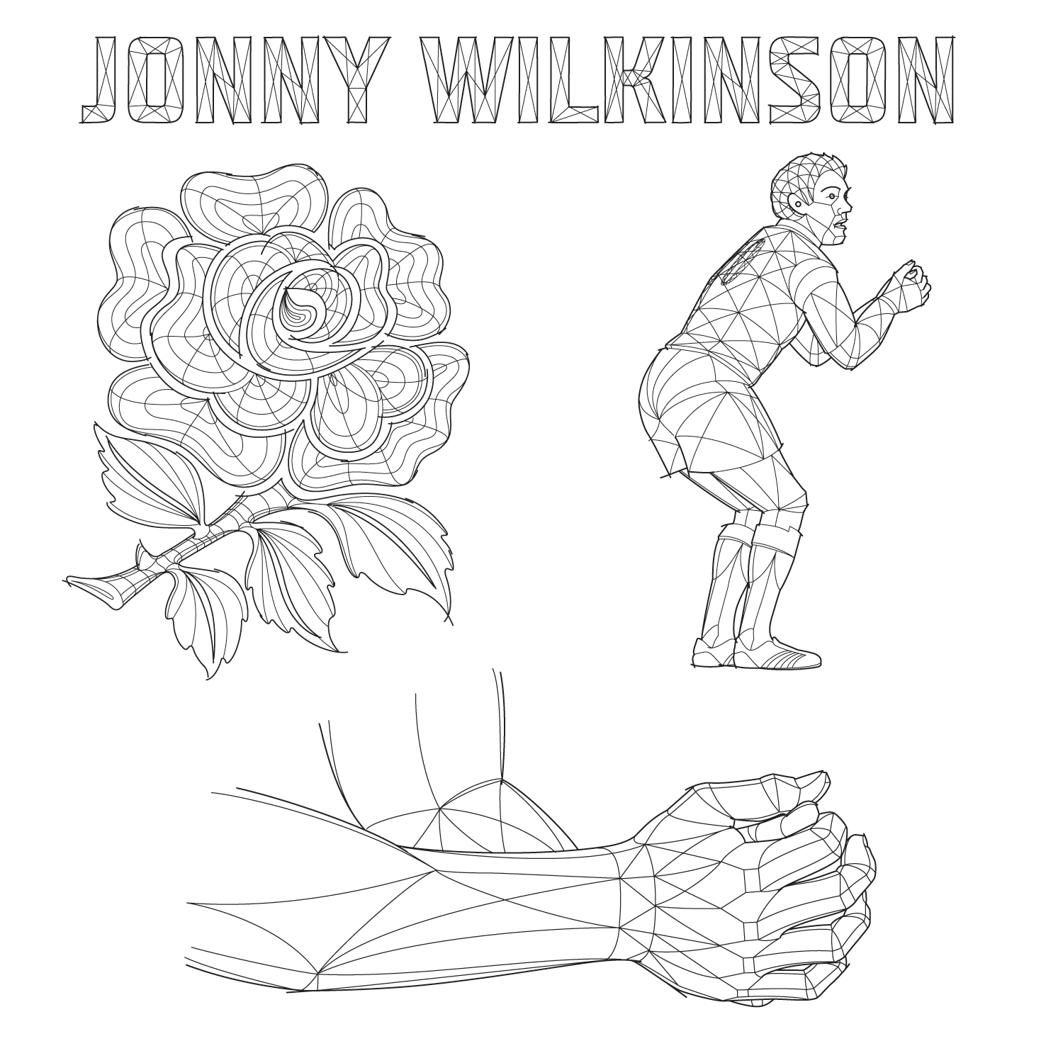 3D Wire Frame style drawings for a BBC bumper videoadvertising a Radio 4 Today Programmedocumentary which described Jonny Wilkinson's return to first class rugby after injury and his mental preparation for life after rugby.