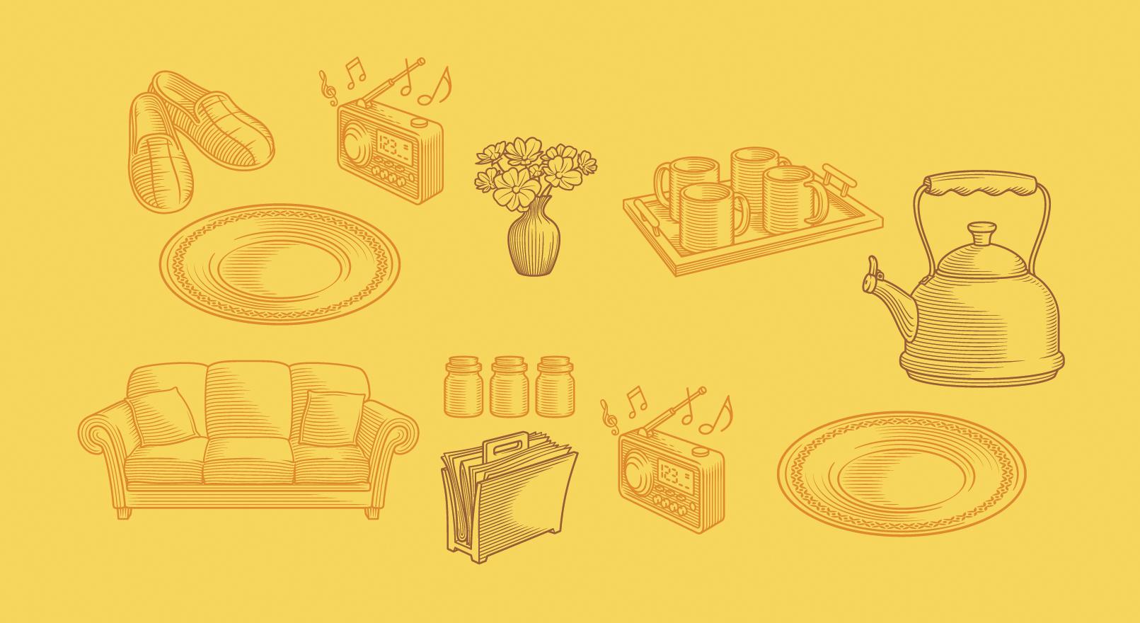 Illustration sets for packs