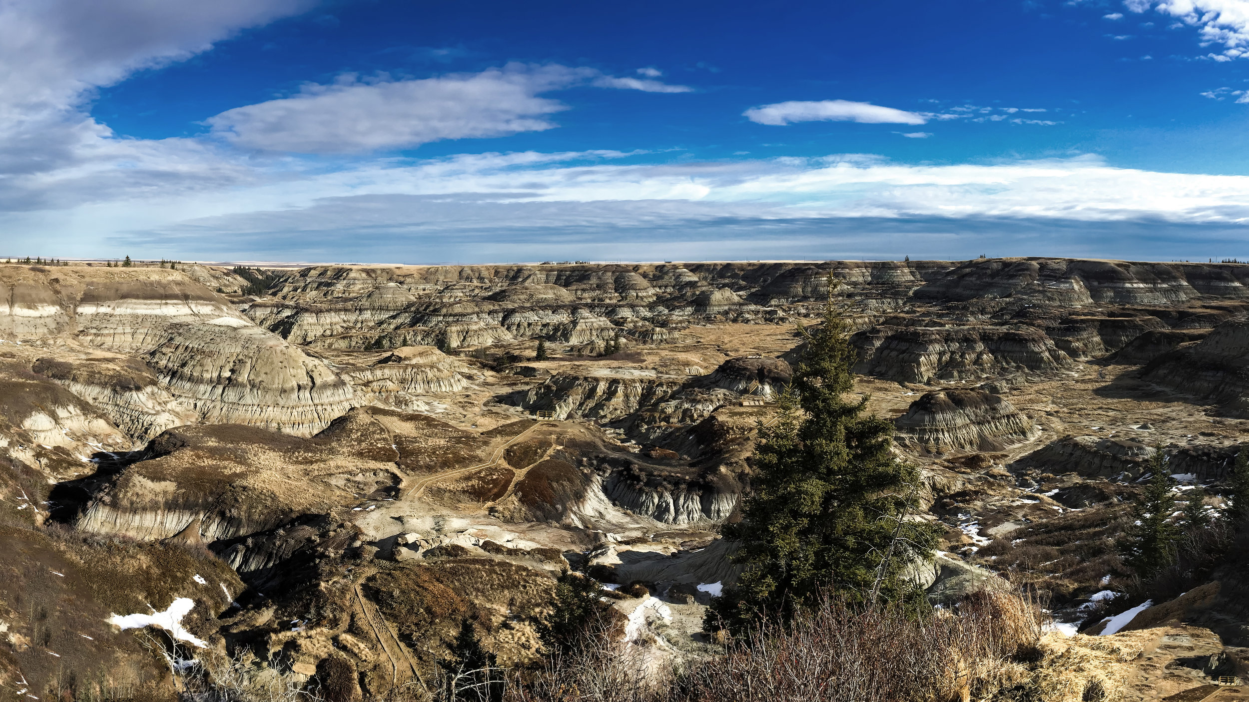 Horseshoe Canyon in the Canadian Badlands just SW of Drumheller - Photo Taken with an iPhone