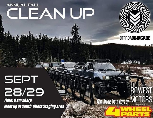 Pack It Out • • • There's a fall cleanup happening in Waiparous on the 28th and 29th. Put on by the @offroadbrigade crew with prizes from @bowestmotors and @4wheelpartsofficial . Be sure to get out and show your support for our great trail system. Check the Facebook page for more details. • • • Poster from @offroadbrigade