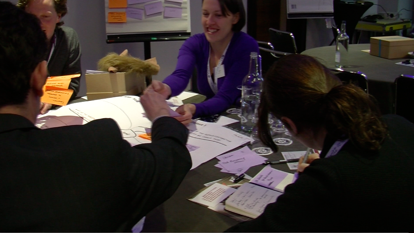 IdeaKegs in action at Think With Your Hands workshop designed by us and facilitated by  Untapped Innovation at the UK Market Research Society  Annual Conference . Participant evaluations of the workshop were excellent.