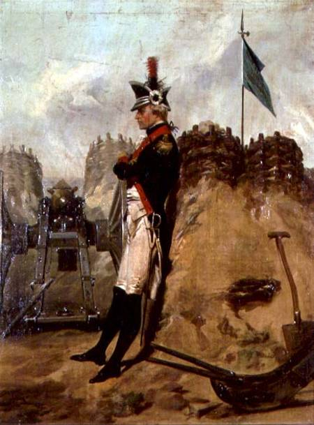"""Alexander Hamilton in the Uniform of the New York Artillery"" by Alonzo Chappel (1828–1887)"