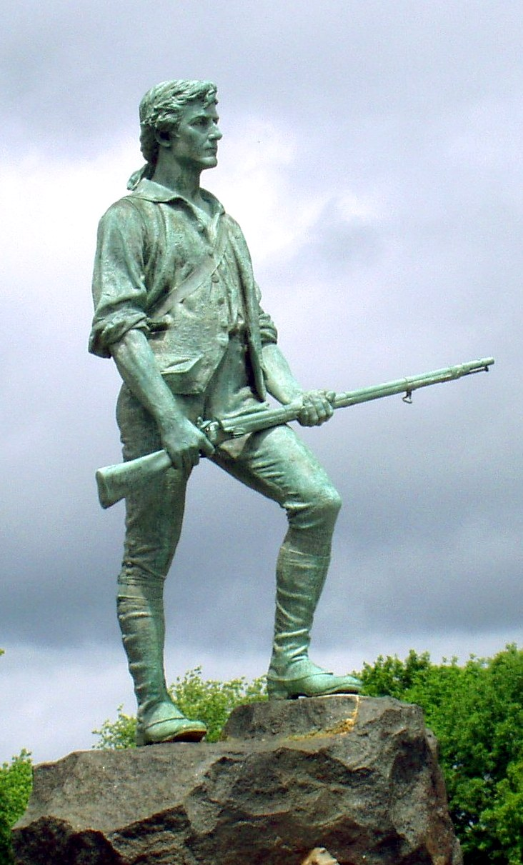 """The Lexington Minuteman"" by sculptor Henry Hudson Kitson (1900)"