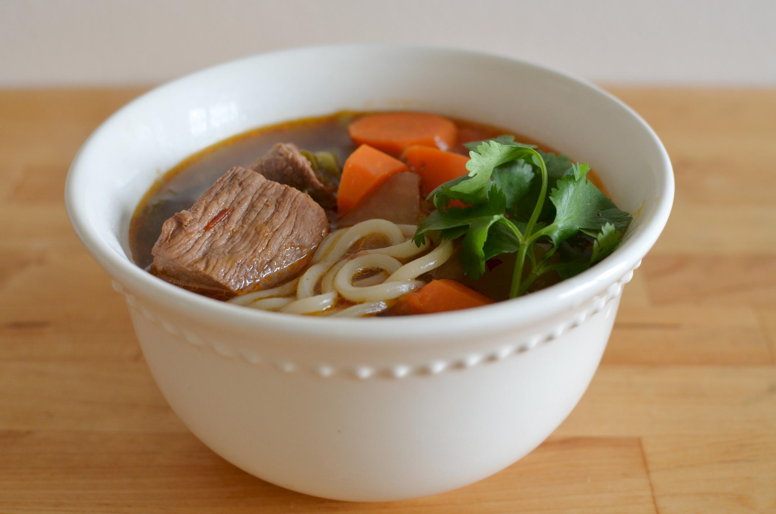 beef carrot daikon soup