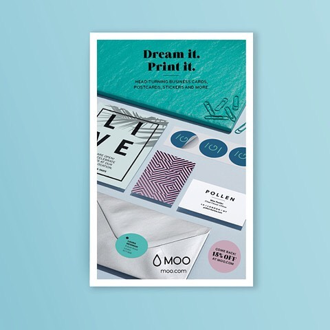 The power of print! Our latest cover design for @moo @rgbdigital  @jo.ohanlon @madebycousin #artdirection #printdesign