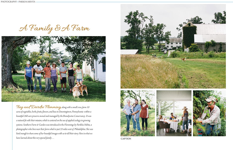Two Gander Farm for Southern Farm & Garden magazine