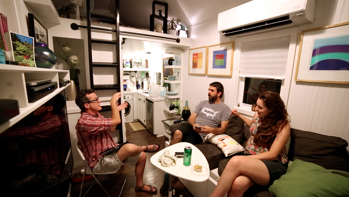 A beautiful tiny home; James' home decor inspiration was the art gallery look