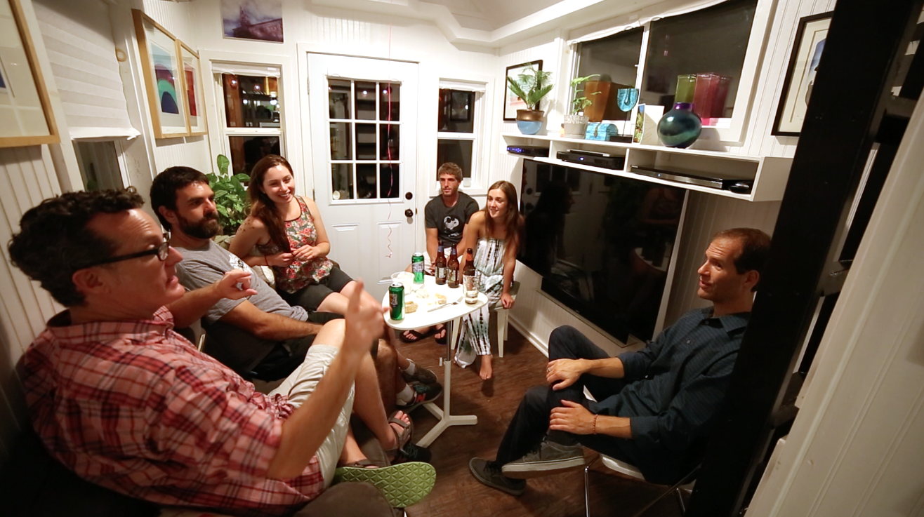 A recent (and informal) pow-wow of tiny house advocates talking the politics and ethos of the movement.