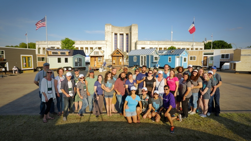 The tiny home village Earth Day Texas