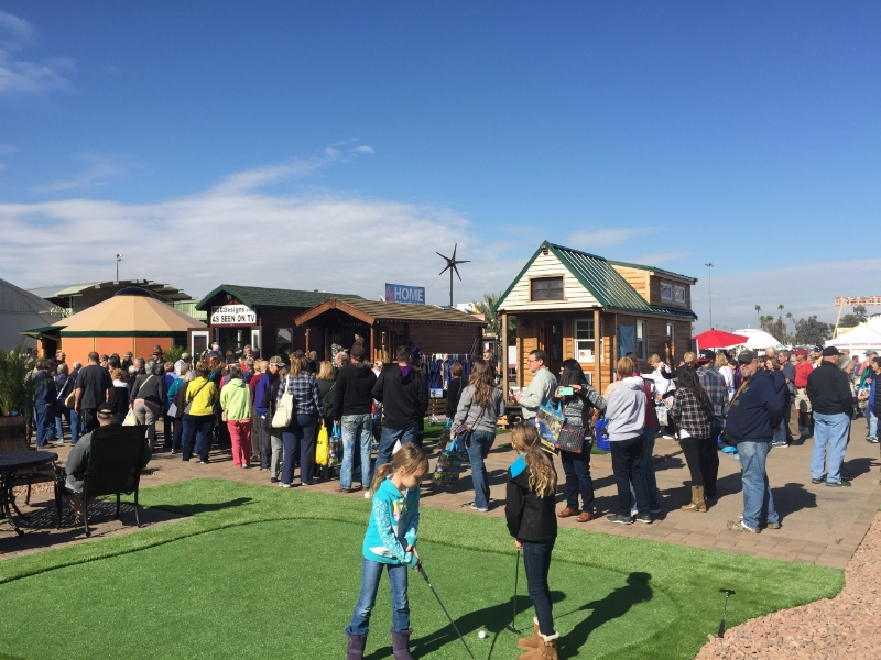 Tiny home village at the Maricopa Home Show in Phoenix