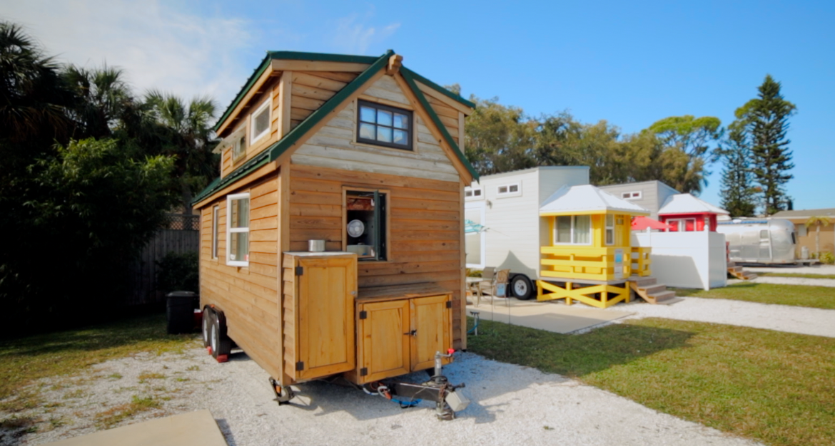 Our tiny home parked at the Tiny House Beach Resort
