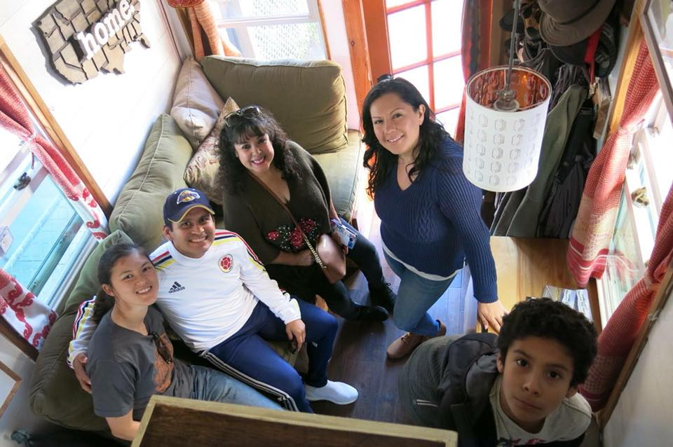 LATCH co-founder Shaina Thompson and the Living Tiny in LA family in our tiny home