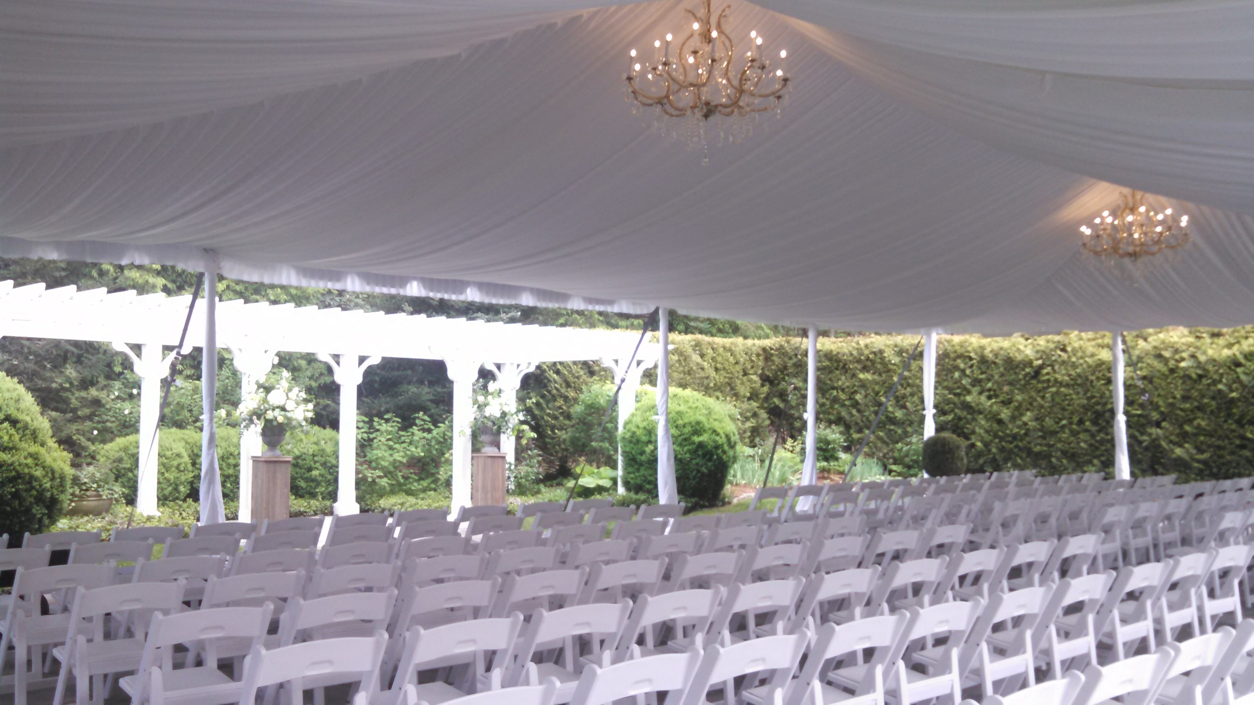 A view of the Ceremony location! This is just taken with my phone to give you an idea of the setting.