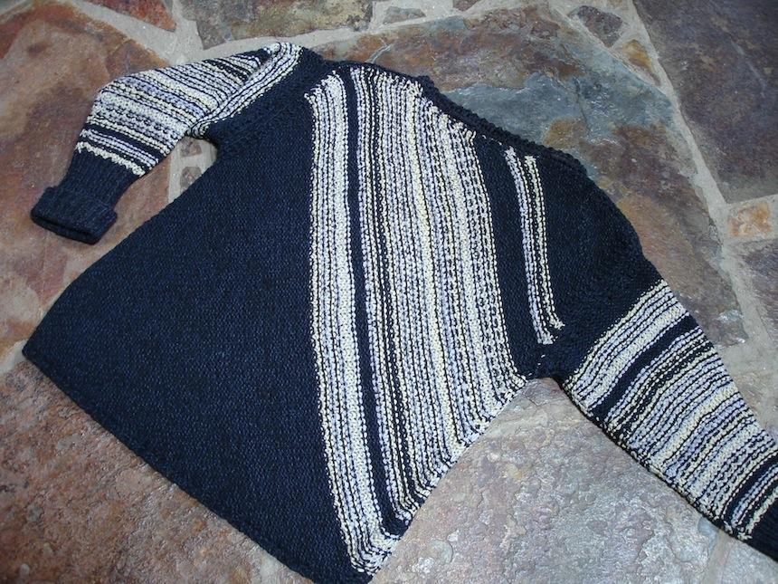Diagonal Stripe Pullover by Shari Hirst