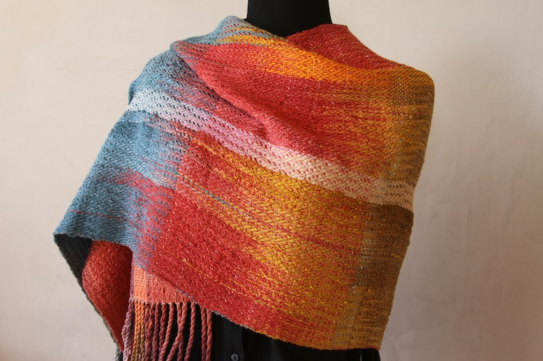 Hand-dyed Wrap Woven by Carol Metchick