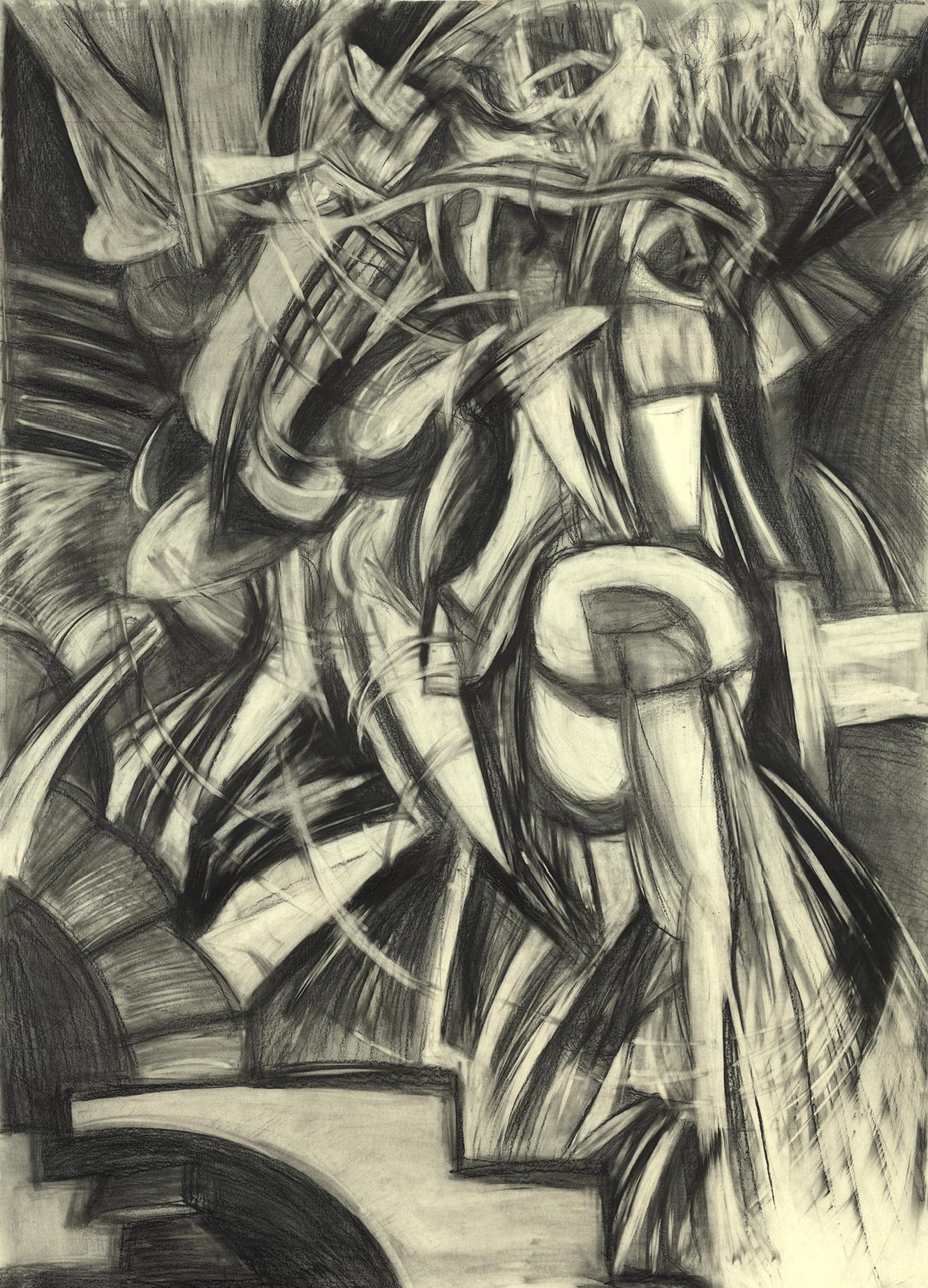 Study: Duchamp Nude Descending a Staircase No.2