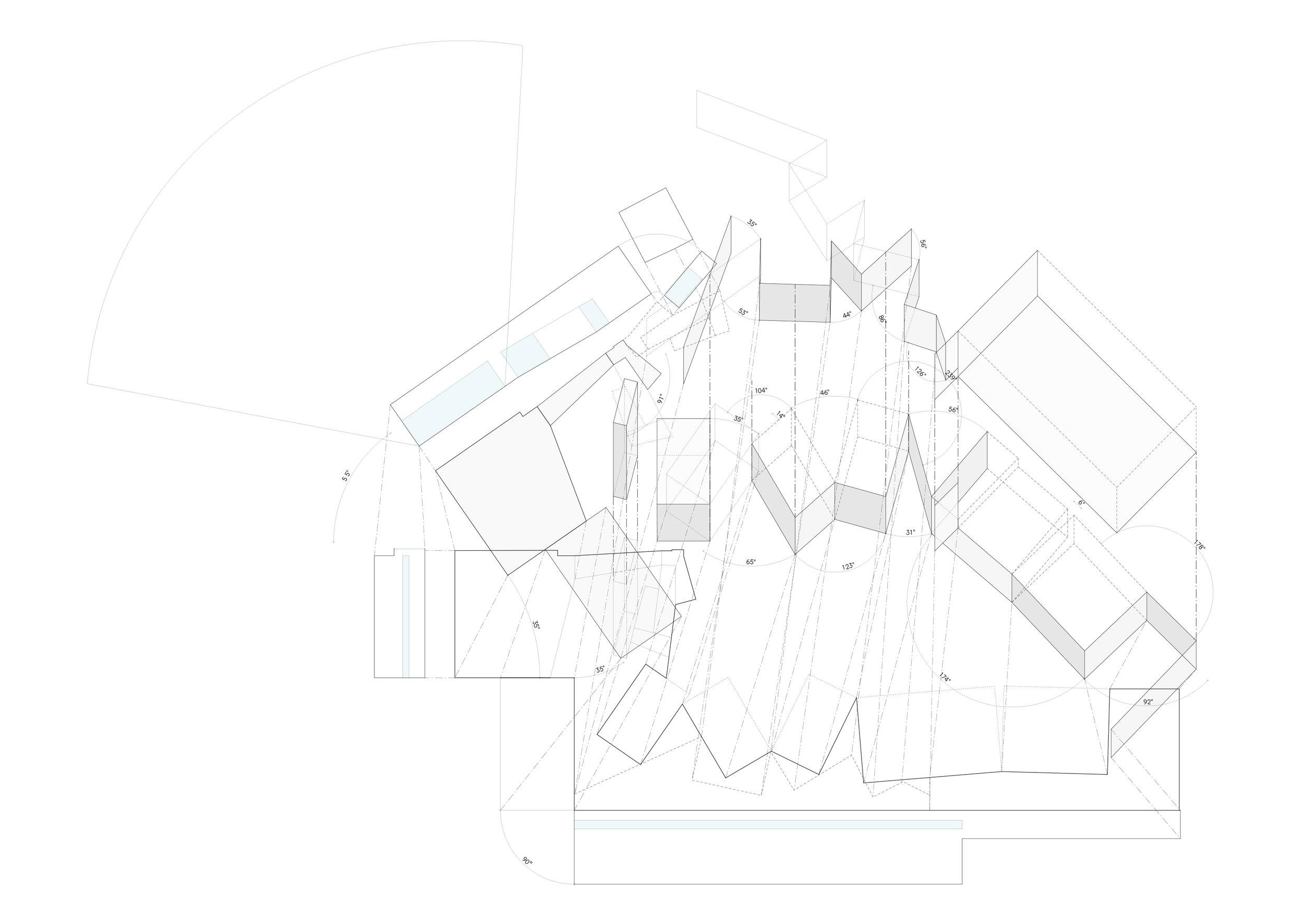 Simple Shapes, Dynamic Spaces ロジカルなプログラム構成と動線計画を追求した先に、イロジカルにも見える動的な空間をデザイン