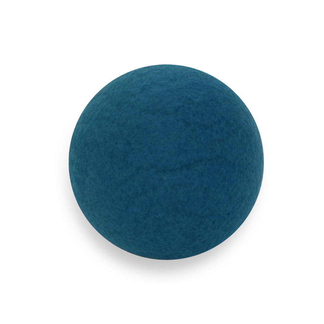 Teal Felt Fidget Ball