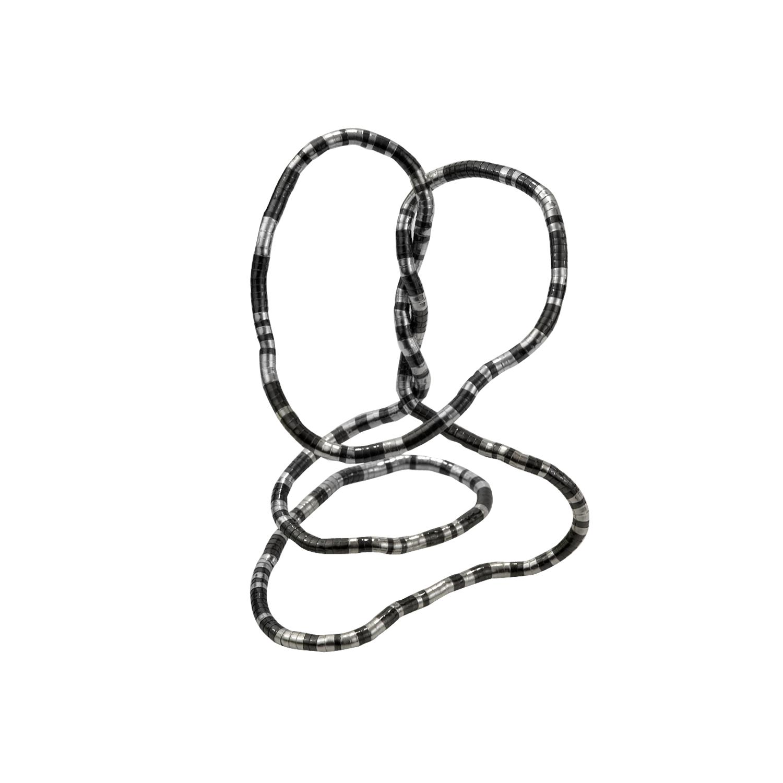 Silver/Gunmetal Snake Twist