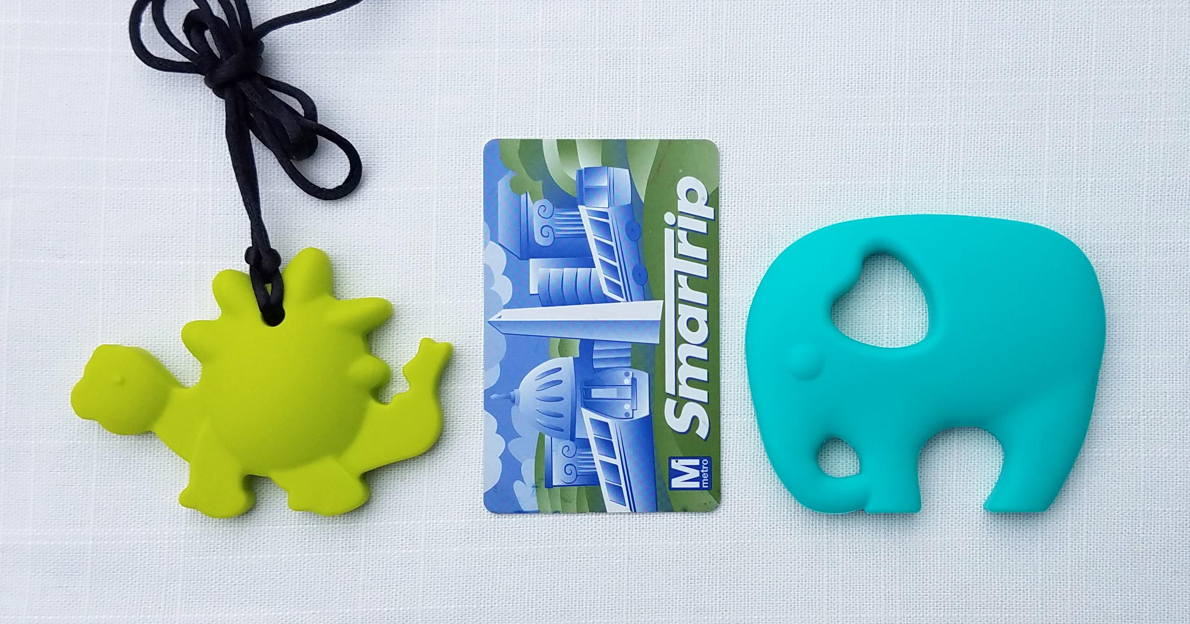Stegosaurus Pendant  and  Handheld Elephant