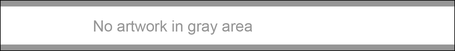 "Photo description: Horizontal white rectangle with thin gray bands at top and bottom and the words ""No artwork in gray area"""