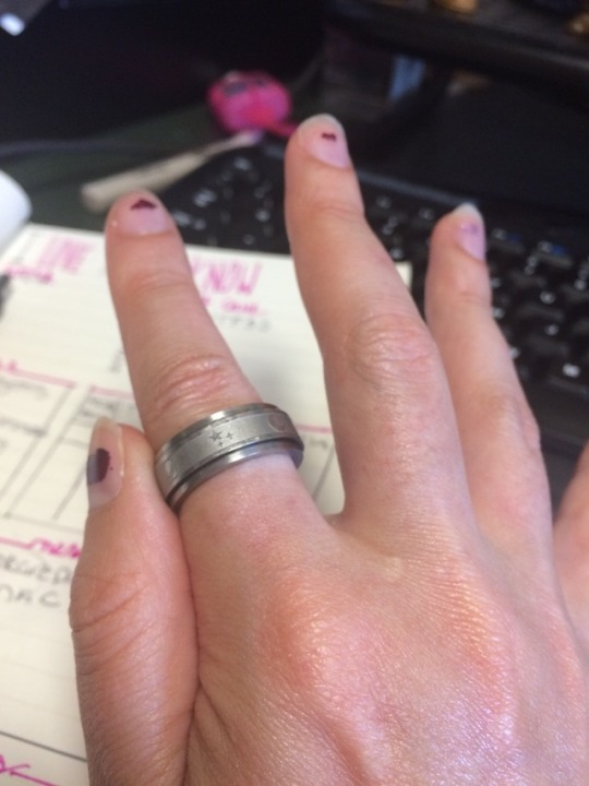 Nor, with a Starry Night spinner ring