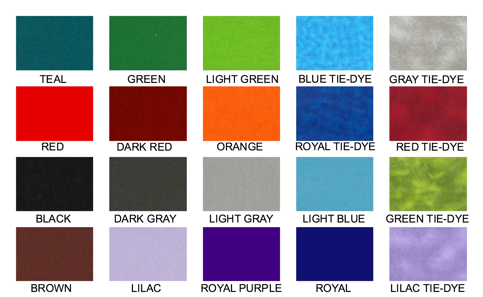 Weighted blanket colors