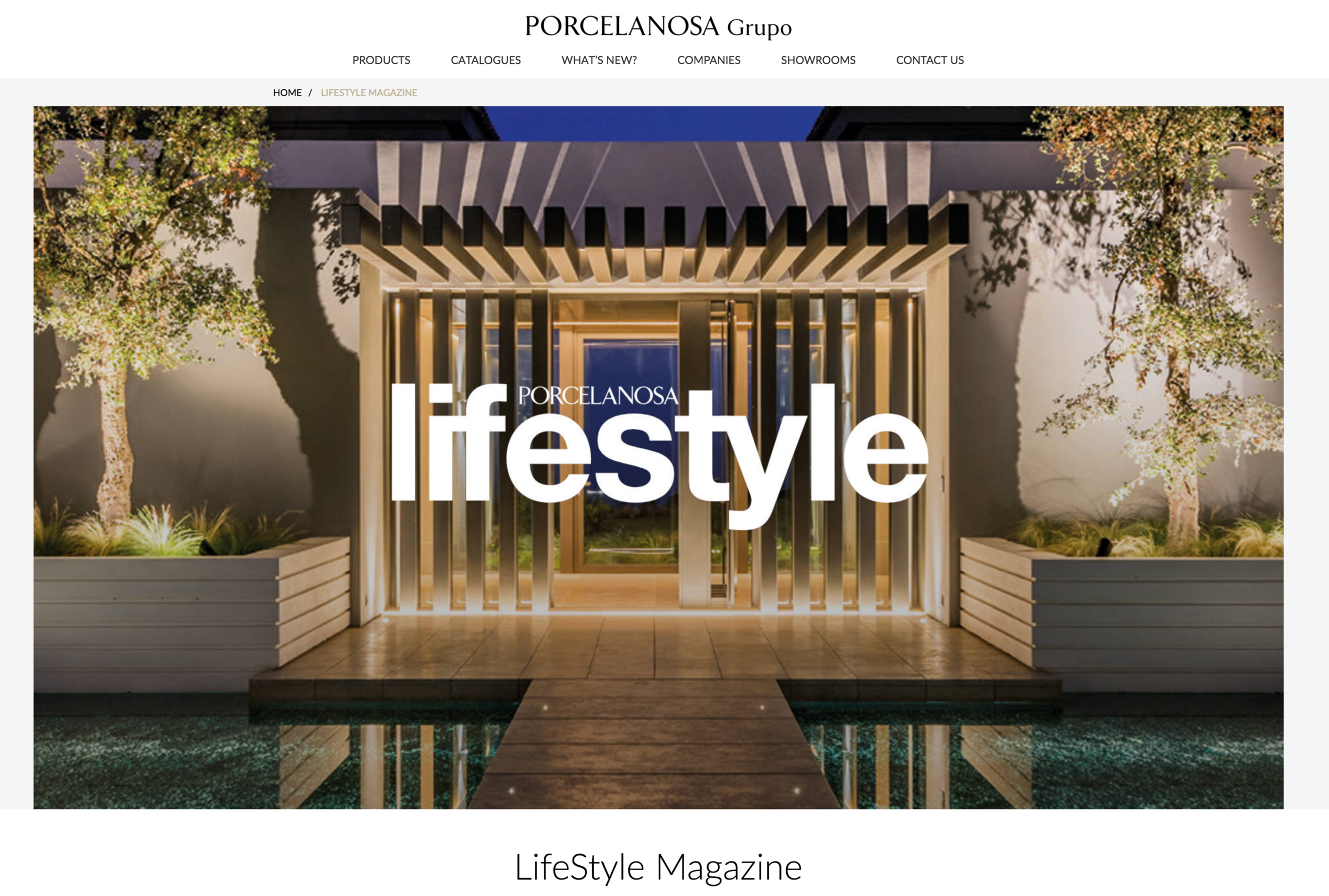Worlwide Porecelanosa Website