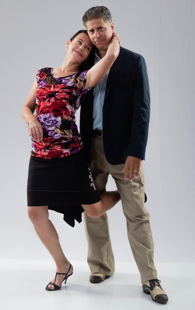~Laure with her husband, whom she met dancing tango.~(photo by Ed Goytia)
