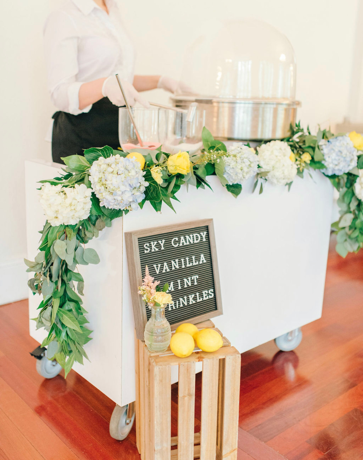 Cotton Candy Cart for Weddings