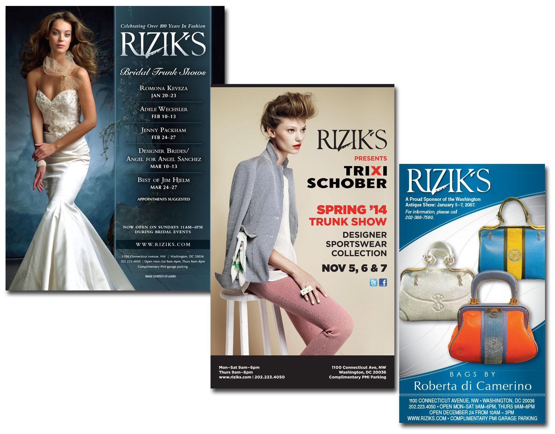 Rizik's Various Advertisements