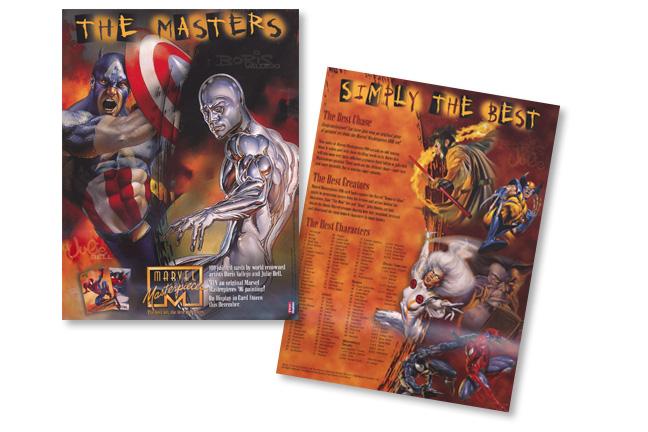 "Marvel Comics ""Marvel Masterpiece Card Set"" Sell Sheet"