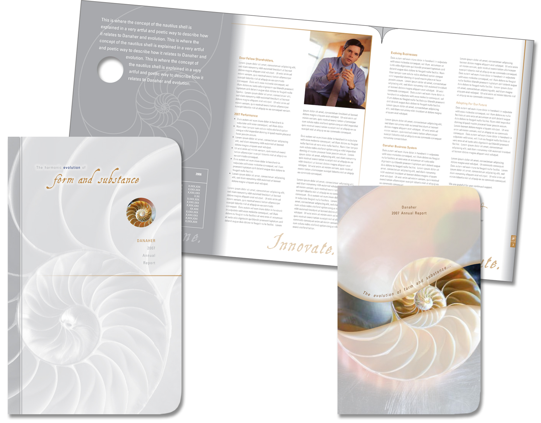 Danaher Corporation Annual Report Nautilus Shell Design