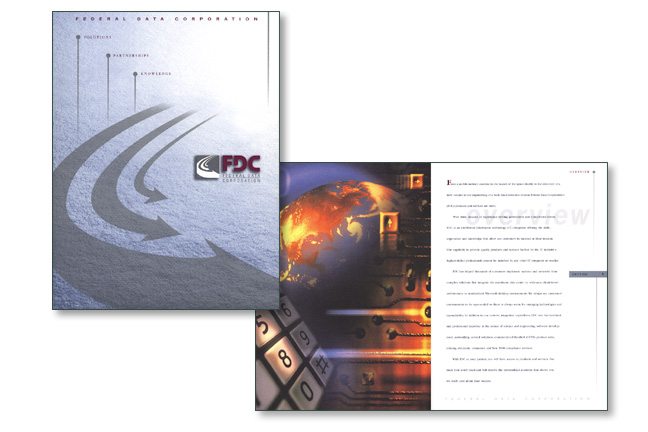 Federal Data Corporation Collateral Folder and Inserts
