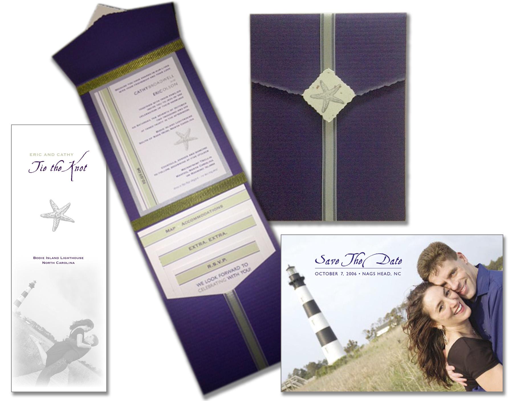 Eric Olson & Cathy Broadwell Wedding Invite & Materials