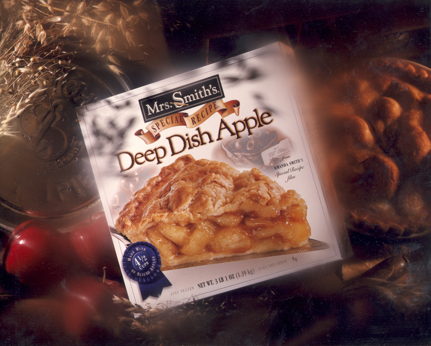 Mrs. Smith's Deep Dish Apple Pie Packaging