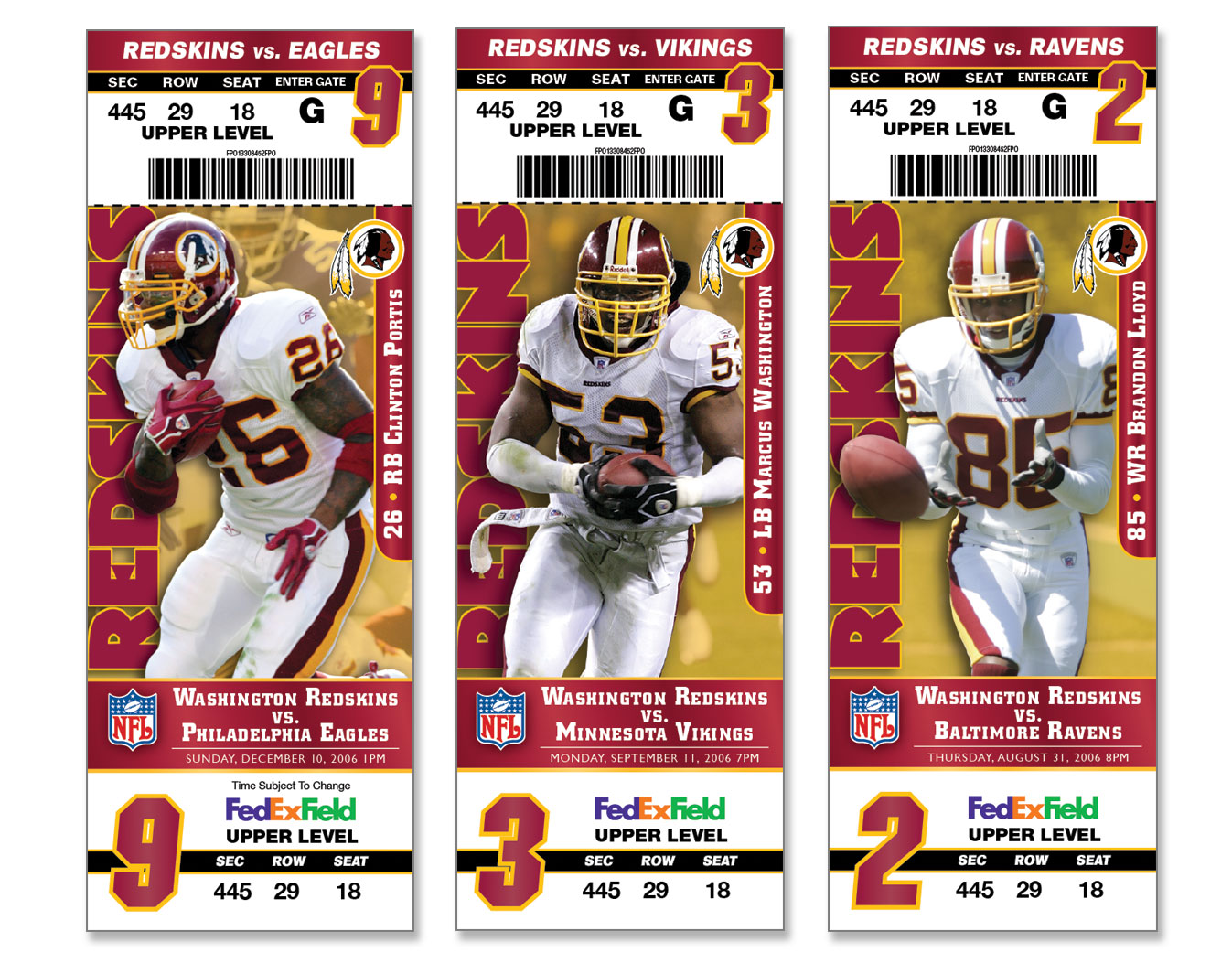 Washington Redskins Stadium Season Tickets