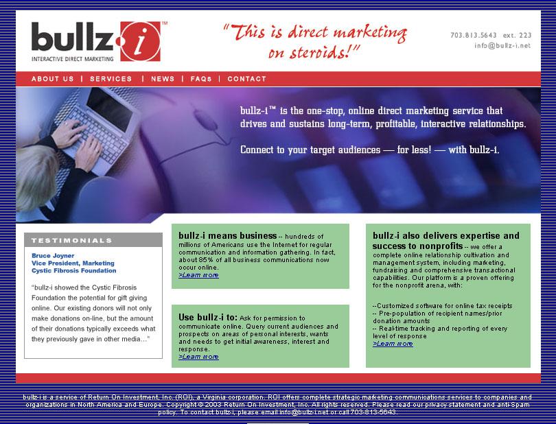 bullz-i Website and Logo Design (E-Marketing Company)