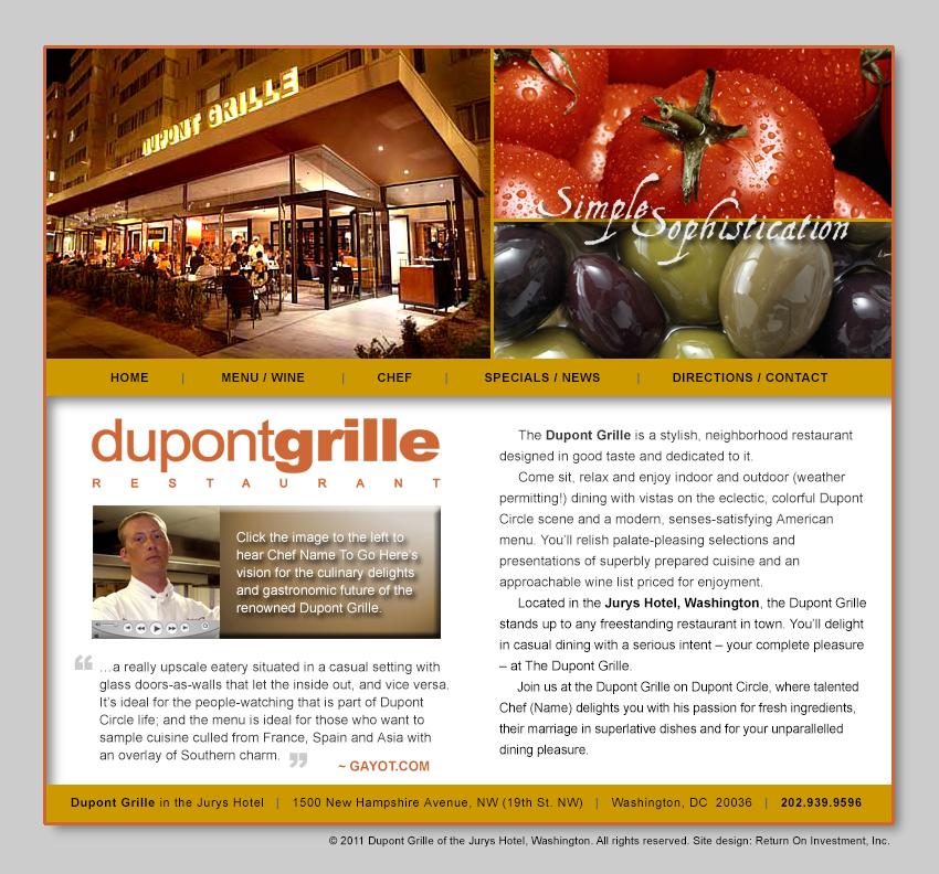 Dupont Grille Restaurant Website Design