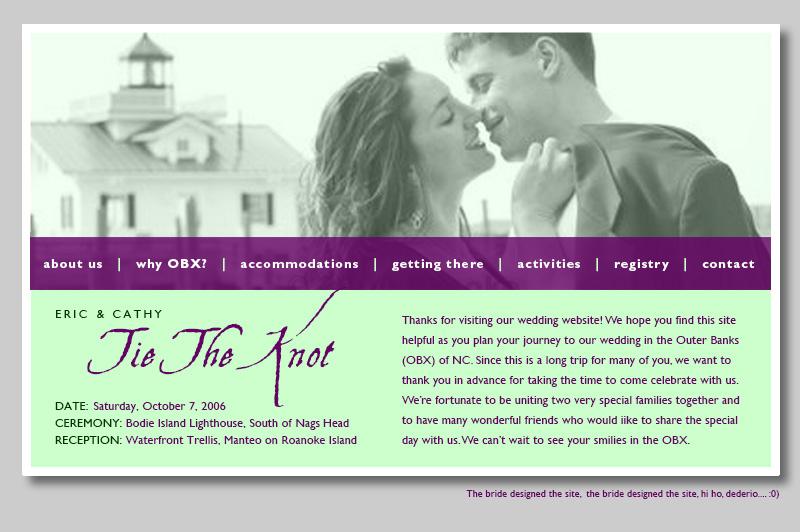 Eric Olson & Cathy Broadwell Wedding Website