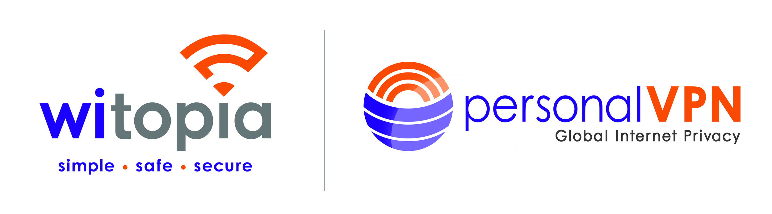 Current updated Witopia corporate logo and newly created product logo for PersonalVPN.